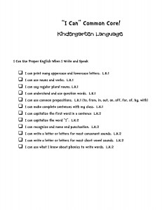 i can common core statements kindergarten language-page-001
