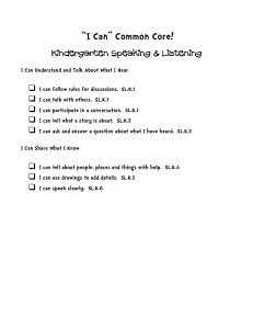 i can common core statements kindergarten speaking and listening-page-001
