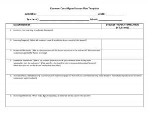 lesson plan template 1 CCSS